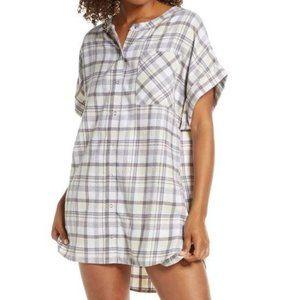 BP. Flannel Short Dolman Sleeve Nightshirt NWT S